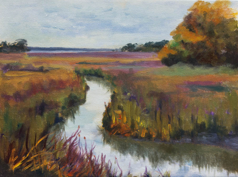 Shem Creek, Charleston, SC oil painting