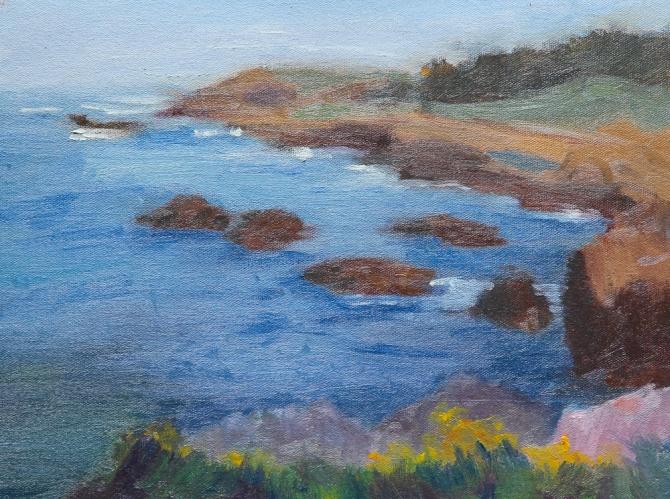 Point Lobos California oil painting en plein air