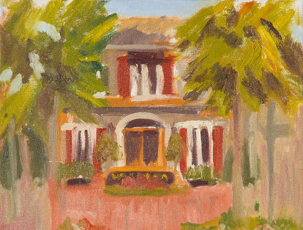 Welcome Center, Fairhope, Ala oil painting en plein air