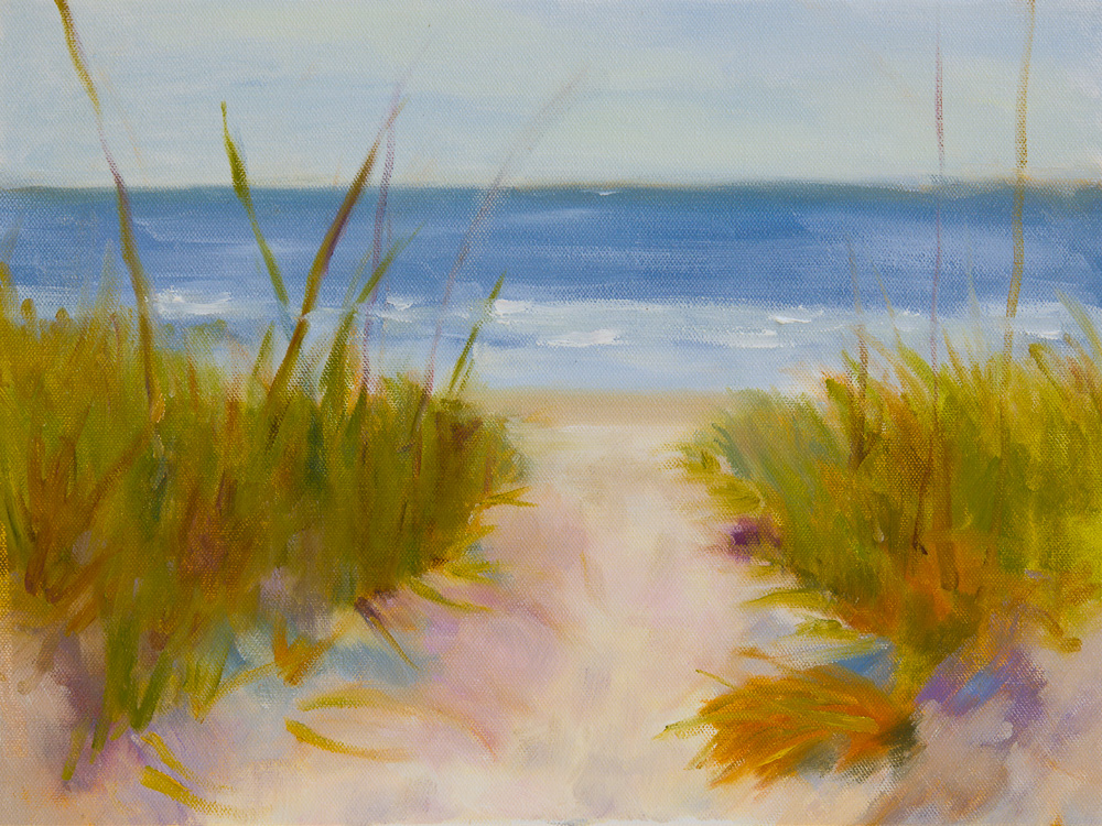 Little Talbot Island Plein Air Oil Painting